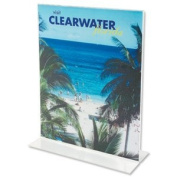 Deflecto Stand-Up Sign Holder Double-sided Portrait A4 Clear