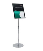 Deflecto Sign Holder with Bevel Magnetic Cover Floor-Standing Heavyweight H680-1060mm A3 Ref DE790645