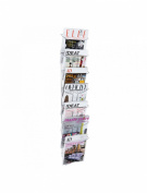 Alba A4 Wall Mounted 7 Tier Literature Holder - Chrome