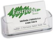 Deflecto Business Card Holder Desktop Single-pocket Clear