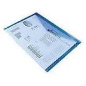 5 X A4 POPPER WALLETS DOCUMENT HOLDER FILE PLASTIC-BLUE 1430581