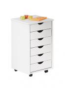 Interlink Pedestal Simon Solid Wood White Lacquered