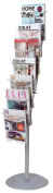 ALBA Wire Floor Literature Display Stand with 7 compartments - Black