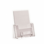 Nest Plastics t/a Wholesale POS Co - LEAFLET BROCHURE MENU HOLDER & BUSINESS CARD DISPENSER FLYER DISPLAY STANDS SIZE A5 (210mm X 148mm) PACK OF 1
