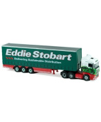 Oxford Diecast Scania Highline CombiTrailer and Container Eddie Stobart