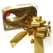 PK10 GOLD 31MM PULL BOWS FOR FLORIST, CRAFT AND WEDDINGS
