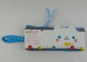 Korean Design Novelty Pencil Case Animal Face Design - Blue