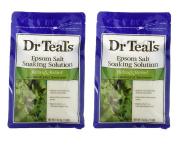 Dr. Teal's Epsom Salt Soaking Solution with Eucalyptus Spearmint, 1420ml (Pack of 2
