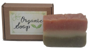 Jensan Rose Geranium Natural Organic Soap with Shea Butter and Essential Oils, 130ml