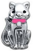 Diva Dangles CAT PINK COLLAR Floating Charm For Glass Lockets