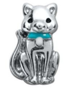 Diva Dangles CAT BLUE COLLAR Floating Charm For Glass Lockets