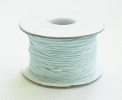 LIGHT BLUE 0.8mm Chinese Knot Nylon Braided Cord Shamballa Macrame Beading Kumihimo String