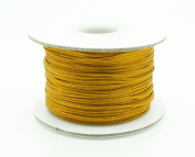 OLD GOLD 0.8mm Chinese Knot Nylon Braided Cord Shamballa Macrame Beading Kumihimo String