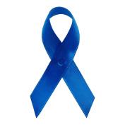 Royal Blue Satin Awareness Ribbons - Bag of 250 Fabric Ribbons w/ Safety Pins