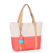 2015 New Sweet Elegent Mixed Colour Totes Chain Pendants Hobo Shoulder Bag Handbag Beige