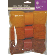 Dimensions Needlecraft 3-Pack Wool Roving, Gold Rust Trio
