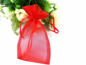 SumDirect 100Pcs 10cm x 15cm Sheer Drawstring Organza Jewellery Pouches Wedding Party Christmas Favour Gift Bags
