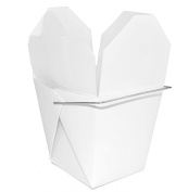 Chinese Take Out Food Boxes 240ml (1/2 Pint) 50 Pack - White