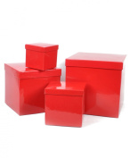 "Boxed-Gifts's Elegant Gift Box Set ""Solid Red"""