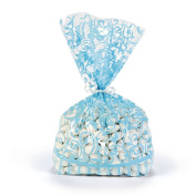 Light Blue Swirl Treat Bags