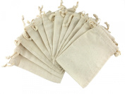 Muslin Drawstring Pouches 10cm x 15cm Pack of 12