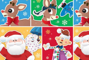 Rudolph the Red Nosed Reindeer Misfit Toys Christmas Wrapping Paper Gift Wrap Roll - 3.7sqm - Officially Licenced - Brand New - #W14-4112