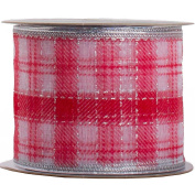 JAM Paper® - Red Gingham Christmas Ribbon - 0.8m Wide x 3 Yards Long - Sold Individually
