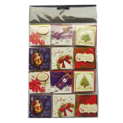 Christmas Hand Crafted Tags - Foiled & Layered - 24 X 4 Page Tags in 6 Designs