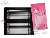 "Knitter-s Pride Single Pointed Needle Set, Nova Platina 10"" / 25 cm"