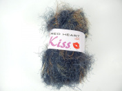 Smoke Red Heart Kiss #3546 Soft Nylon Brown, Black, Charcoal, Tan Long Eyelash Yarn 83Yd 50gram