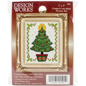 Christmas Tree Ornament Counted Cross Stitch Kit-5.1cm x 7.6cm