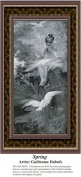 Spring, Sepia Counted Cross Stitch Pattern