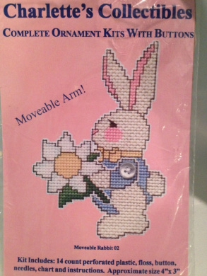 Rabbit Ornament Kit with Button - Moveable Arm