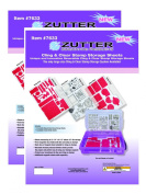 Zutter - Spellbinder Cling & Clear Stamp Storage Refills - Two 3 Piece Packs
