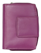 Women's Pink Genuine Leather Wallet Without Any Logos or Markings
