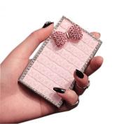 DIY Shinning Rhinestone Pink Bowknot Business Card Case/9.5x5.5cm