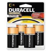 Duracell - CopperTop Alkaline Batteries with Duralock Power Preserve Technology, C, 4/Pk MN1400R4ZX17 (DMi PK