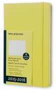 Moleskine 2015-2016 Weekly Notebook, 18m, Large, Hay Yellow, Hard Cover