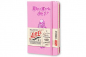 Moleskine Alice's Adventures in Wonderland Limited Edition Notebook, Pocket, Ruled, Pink Magenta, Hard Cover