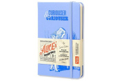 Moleskine Alice's Adventures in Wonderland Limited Edition Notebook, Pocket, Plain, Blue, Hard Cover