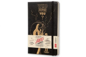 Moleskine Alice's Adventures in Wonderland Limited Edition Notebook, Large, Plain, Black, Hard Cover
