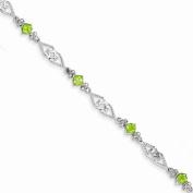 Best Designer Jewellery Sterling Silver Diamond Peridot Bracelet