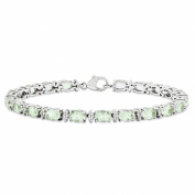 Best Designer Jewellery Sterling Silver Green Am. & White Topaz Bracelet