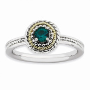 Best Designer Jewellery Sterling Silver & 14k Stackable Expressions Sterling Silver Created Emerald