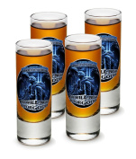 SET OF 4 US Soldier In Memory Of Our Fallen Brothers 60ml Shooter Shot Glasses