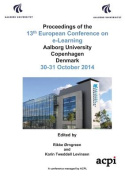 Proceedings of the 13th Conference on E-Learning - Ecel 2014