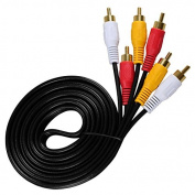 3rca Male to 3rca Male 6 Feet 1.8m Cable Audio Video RCA Cable