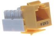 Cat6 Keystone Jack - Dual Row - Yellow