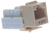 Cat6 Keystone Jack - Dual Row - Ivory