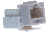 Cat6 Keystone Jack - Dual Row - Grey